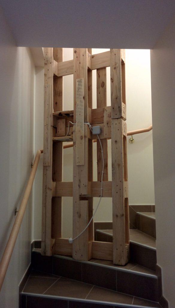 La galère dans l'escalier